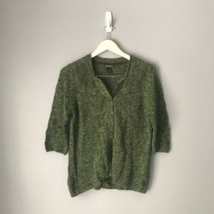 Eddie Bauer Heather Green Cardigan
